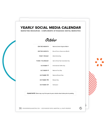Preview of the Yearly Social Media Calendar in the Marketing Action Plan Workbook