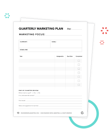 Preview of weekly checklists in the Marketing Action Plan Workbook